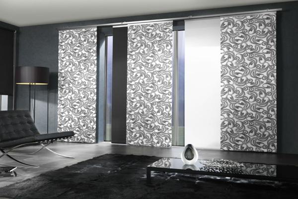 tende a pannelli soggiorno arte del tessuto